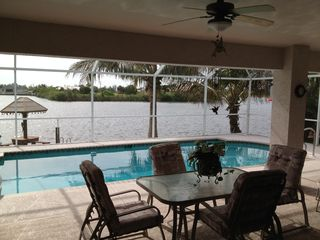 Cape Coral house photo - Dine under the Lanai.