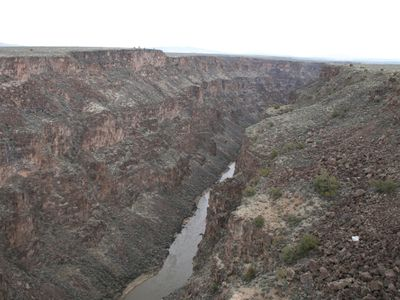 Taos house rental - View of the Rio Grande River Gorge
