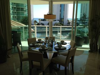 Sunny Isle apartment photo - Dinning Table Overlooking The Canal And Sea