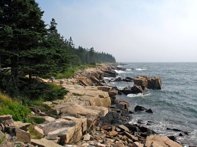Scenic coast line in Acadia National Park.