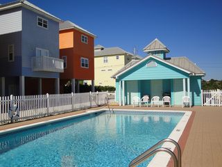 El Centro Beach house photo - Community pool with house in the background. Large pool is never crowded