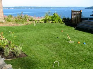 Port Ludlow house photo - Sports lawn for bocce ball or croquet; indoor and outdoor games