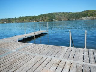Lake Bomoseen house photo - Huge dock with swim area and boat space
