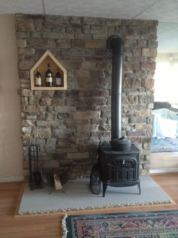 New fireplace 2013, creates a warm cozy stay