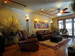 Copper Mountain townhome photo - Living Room with Leather Crocodile Sofa