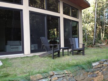 Bonny Doon house rental - Back Deck - Overlooking a beautiful forest glade with lots of wild life.