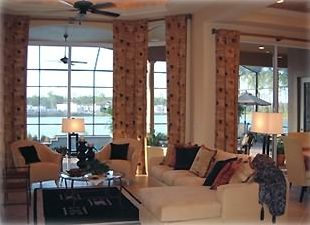 Great Room overlooking lanai and lake