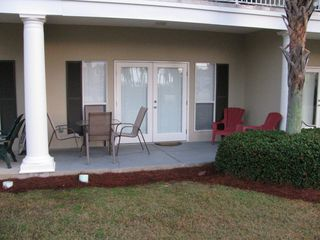 Caribbean Dunes condo photo - Your patio for food and drink facing the Gulf