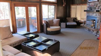 Main living area with panaramic views of all Lake Tahoe has to offer!