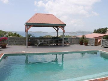 Caribbean View from Cruz View Pool Deck Gazebo