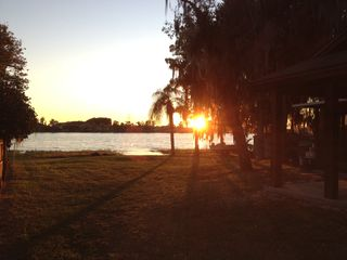 Lake Buena Vista house photo - Back yard sunset