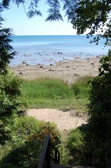 Port Sanilac house photo - view of the lake from part way down the stairs to the lake