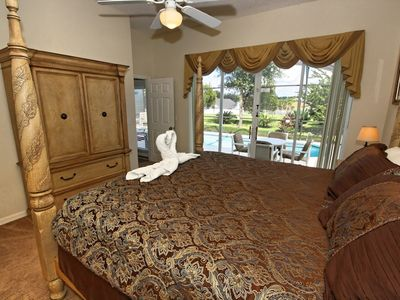 Master Bedroom has a 32 inch flat screen TV to enjoy before a great nights sleep