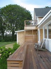 Scarborough and Pine Point house photo - Water side deck with outdoor shower