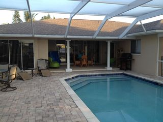 Cape Coral villa photo - View from hot tub toward back of house.