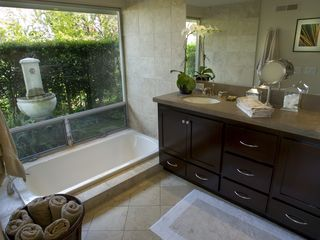 Hollywood estate photo - Luxury Master Bath with Soaking Tub