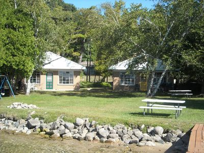 Crystal Lake cottage rental - 100 ft of private lake front! Room to play and relax.