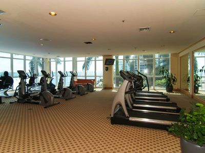 Fully equipped Gym with amazing ocean views