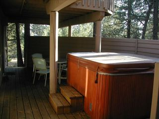 Sunriver house photo - Relax under the stars in the hot tub!