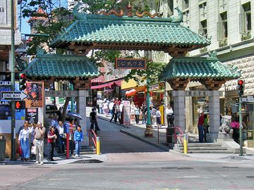 Chinatown gates at Grant Avenue on Bush Street