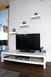 Enjoy the 37' Flat Screen TV with Cable.  High speed WIFI internet is provided!