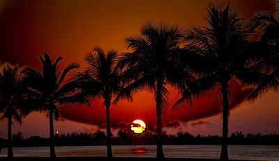 Sunset at Fort Zachary Taylor State Park and Beach. photo by Rick Fatica