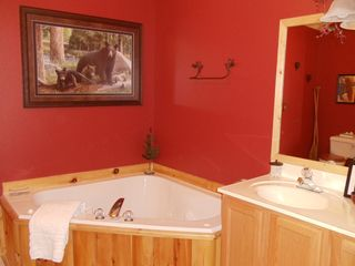 Branson cabin photo - Fulll bathroom #1. Jetted tub, separate shower, double sinks.