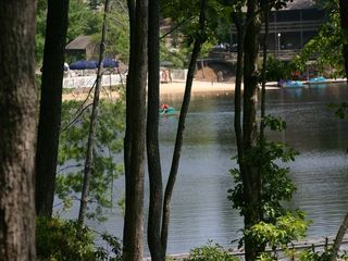 Big Canoe house photo - View from backyard, short walk to pool/beach/boating/rock waterslide and trails.