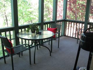 Branson condo photo - Screened deck w/grill