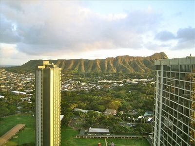 View of Diamond Head from side bedroom window