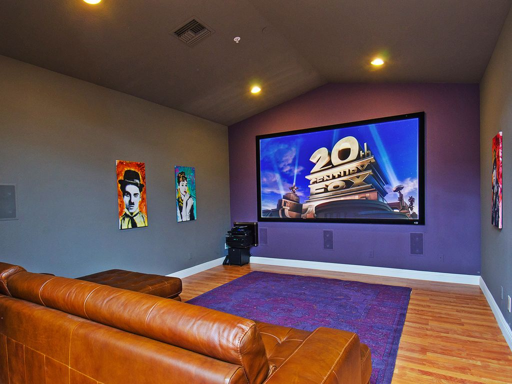 On White Home Theater Room Wall Design Cool Home Theater Rooms Design