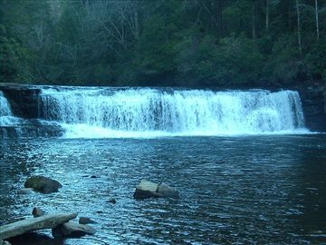 Hooker Falls in nearby DuPont State Forest