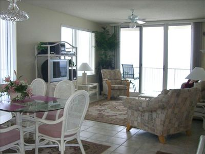 #1101 living room views South & East - Beautiful Gulf Sunrise and Sunsets
