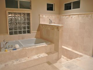 Sacramento estate photo - Master bathroom with jacuzzi. Access to backyard
