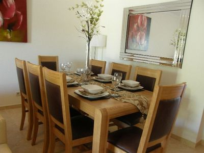 Dining area within the spacious living room