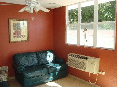 Living room with A/C.