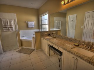 Formosa Gardens villa photo - Master bathroom is fully appointed with granite counters, Large walk in closet