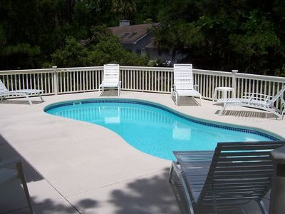 Pool Area is Very Secluded and Furnished with Chaise Lounges
