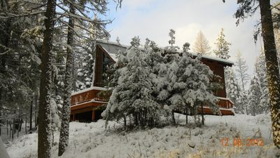 Winter scene of Chalet