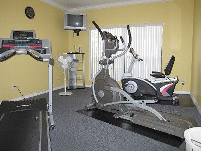 Kissimmee villa rental - Club house gym fitting room