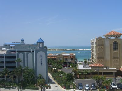 Clearwater Beach condo rental - Shepard's Resort and Holiday Inn. View From Guest Bedroom 2