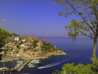 Hydra Island house photo - Village and sea view