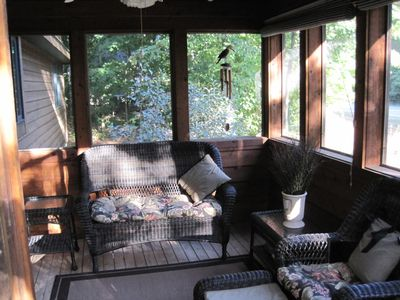 Screened Sun Porch great for coffee and a good book