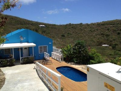 New in-ground salt water pool over looking the beautiful sea!!