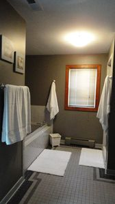 Virginia Beach house rental - Master Bath Jetted Tub and Shower