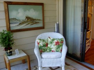 Port Royal villa photo - Cozy deck is great for coffee/drinks outdoors. Beach equipment provided as well.