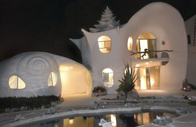CASA CARACOL CARIBBEAN PARADISE UNIQUE HOME - Shell House Night