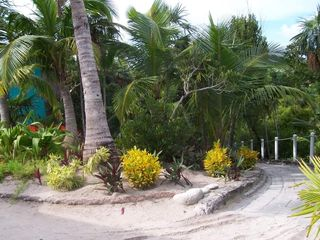 Elbow Cay and Hope Town villa photo - Golf cart path from the top of the dune down to the dock
