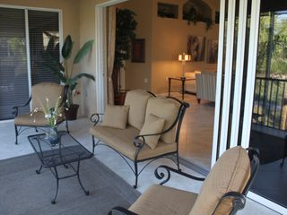 Bonita Springs townhome photo - Relaxing balcony with views to the golf course