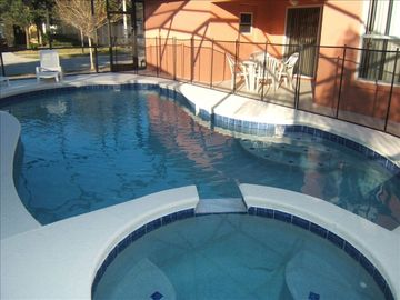 Silver Creek villa rental - West facing pool and SPA